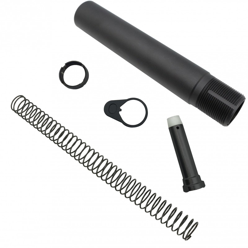 AR15 Pistol tube kit,Buffer Tube,Carbine Buffer Spring,H1 Buffer,End Plate,Castle Nut