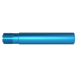 AR  Pistol  Fluted Buffer Tube Receiver Extension Blue Anodized