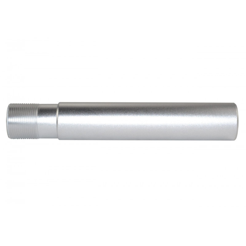 AR Pistol Buffer Tube Receiver Extension Silver Anodized