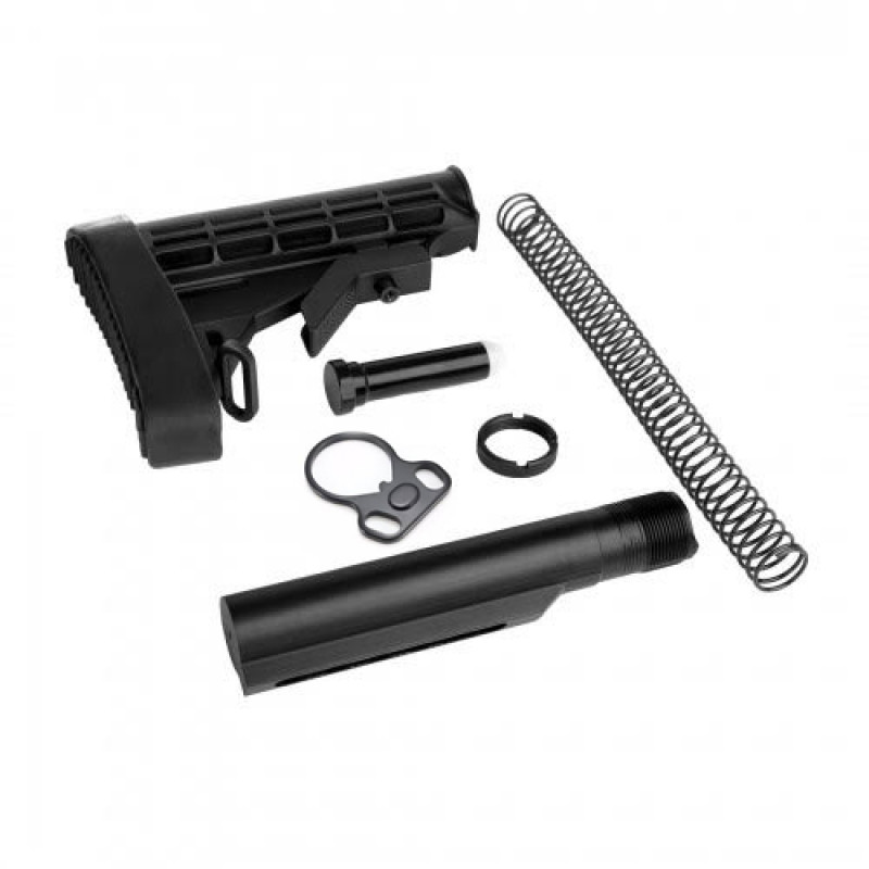 AR15 STOCK COMB,Mil Spec Buffer tube ,Buttstock&Pad,Carbine Buffer Spring,H1 Buffer,Castle Nut,WZ Dual Loop End Plate