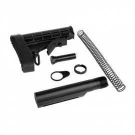 AR15 STOCK COMB,Mil Spec Buffer tube ,Buttstock&Pad,Carbine Buffer Spring,H1 Buffer,Castle Nut, End Plate