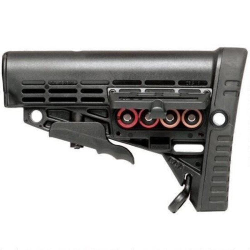 Mil-Spec 6 Position Stock w/ CR123 Battery Compartment and Rail