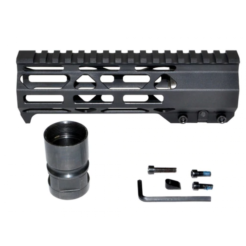 "AR15  7"" STS M-lok Free Float Handguard,with Build-in Handstop &Steel Nut"